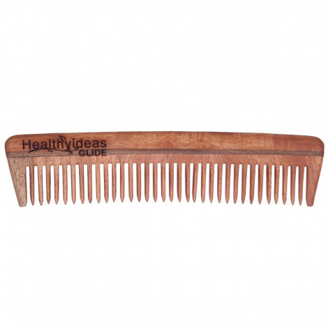 Healthy Ideas Glide Hand Crafted Herbal Neem Wood Comb