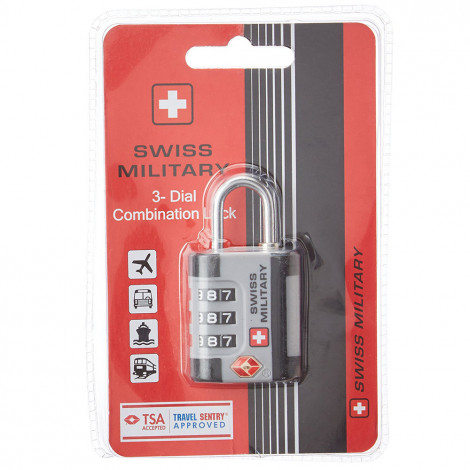 Swiss Military 3 Dial Combination Lock (LL-1)