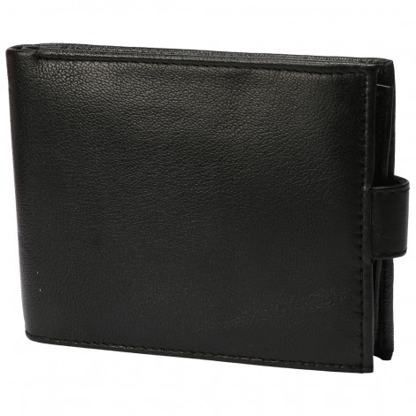 Leather Club Mens Sheep Leather Wallet (Black)