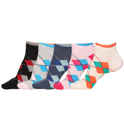 Cotton Spandex Lies 03 Socks For Women's (Pack of 5)