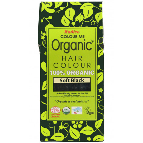 Radico COLOUR ME 100% Organic USDA Certified Hair Colour (Soft Black)