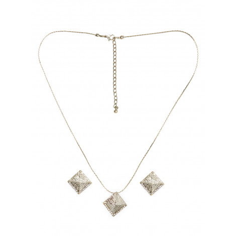 Mistral Of Milan Gold Plated Fashion Necklace With Earring Set
