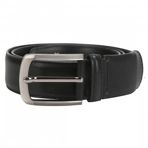 Leather Club PU Single Side Formal Belt For Men (Black)