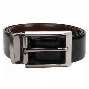 Leather Club Italian Leather Reversible Formal Belt For Men (Black & Brown)