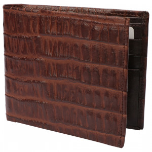 Leather Club Mens Leather Wallet (Brown)