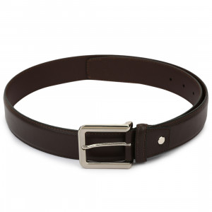 Leather Club PU Single Side Casual Belt (Brown)