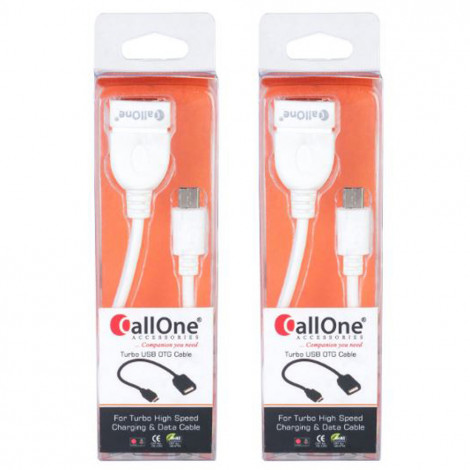 CallOne Turbo OTG Cable Micro USB (Pack of 2)