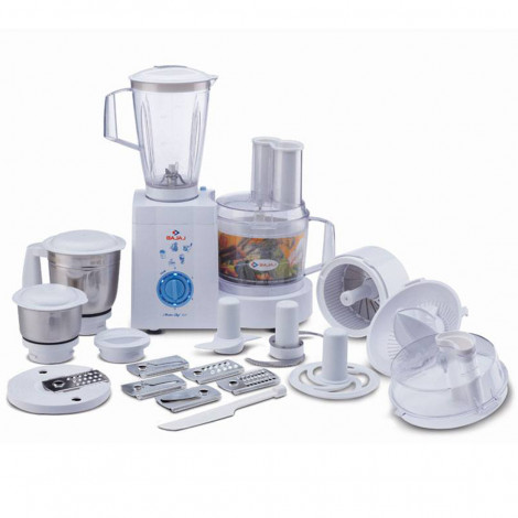 Bajaj MasterChef 3.0 600-Watt Food Processor With 3 Jars (White)