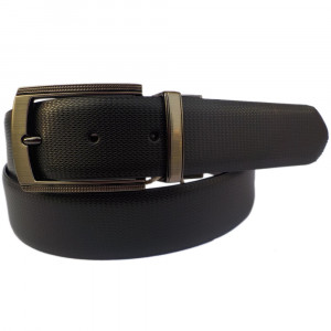 Leather Club PU Reversible Faux Leather Belt (Black & Brown)